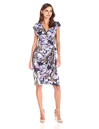008e99654d67 Lark & Ro Women's Smoky Floral Cap-Sleeve Wrap Dress   Let's Buy Dresses